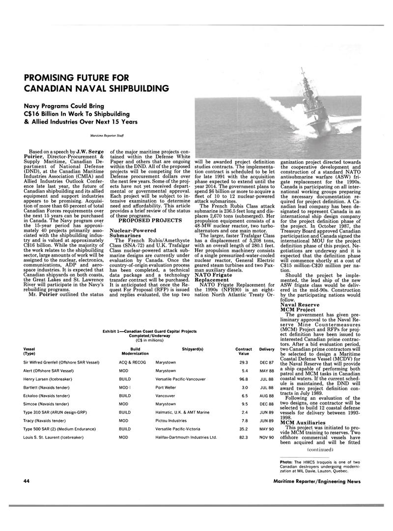 Maritime Reporter Magazine, page 42,  Feb 1989 Quebec