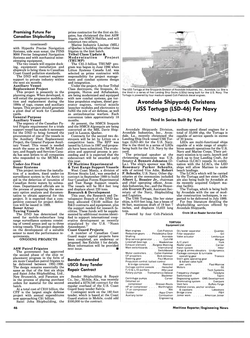 Maritime Reporter Magazine, page 44,  Feb 1989 New Brunswick