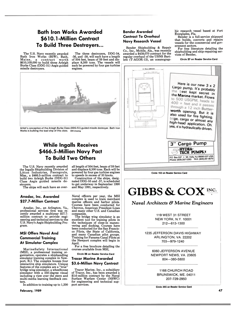 Maritime Reporter Magazine, page 45,  Feb 1989 Mississippi