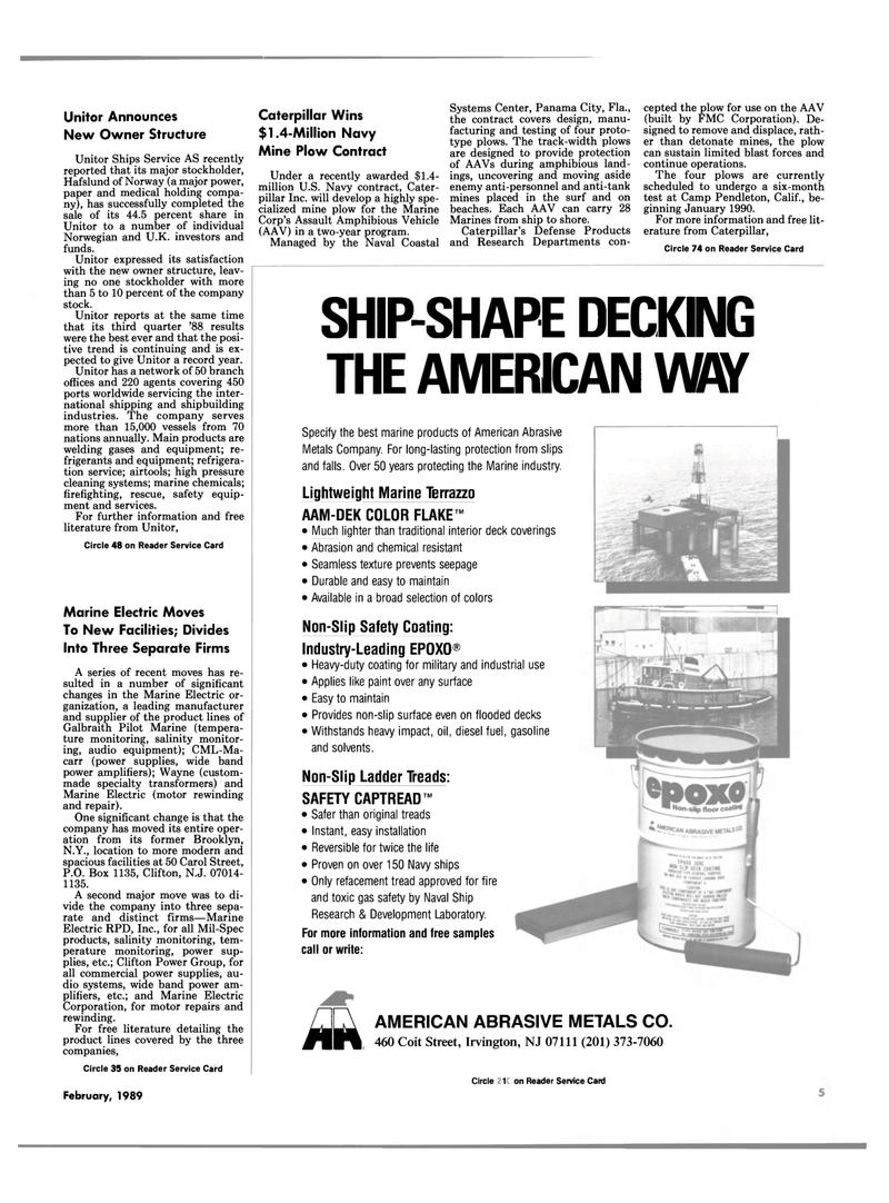 Maritime Reporter Magazine, page 3,  Feb 1989 Florida