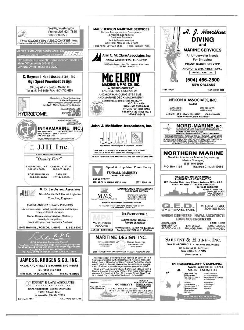 Maritime Reporter Magazine, page 60,  Feb 1989 Louisiana