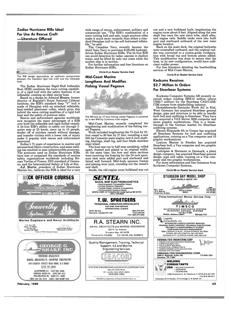 Maritime Reporter Magazine, page 61,  Feb 1989 Montana