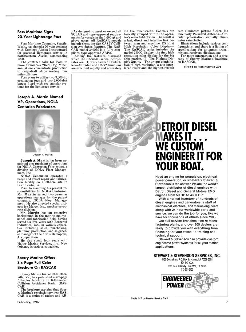 Maritime Reporter Magazine, page 5,  Feb 1989 Louisiana