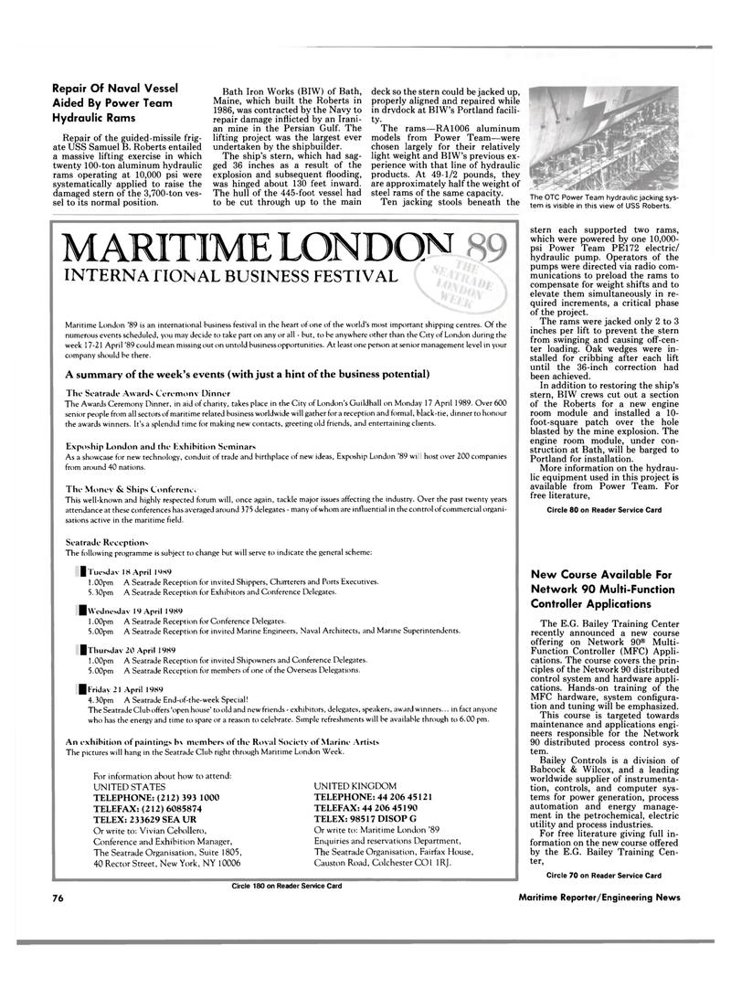 Maritime Reporter Magazine, page 72,  Feb 1989 Maine