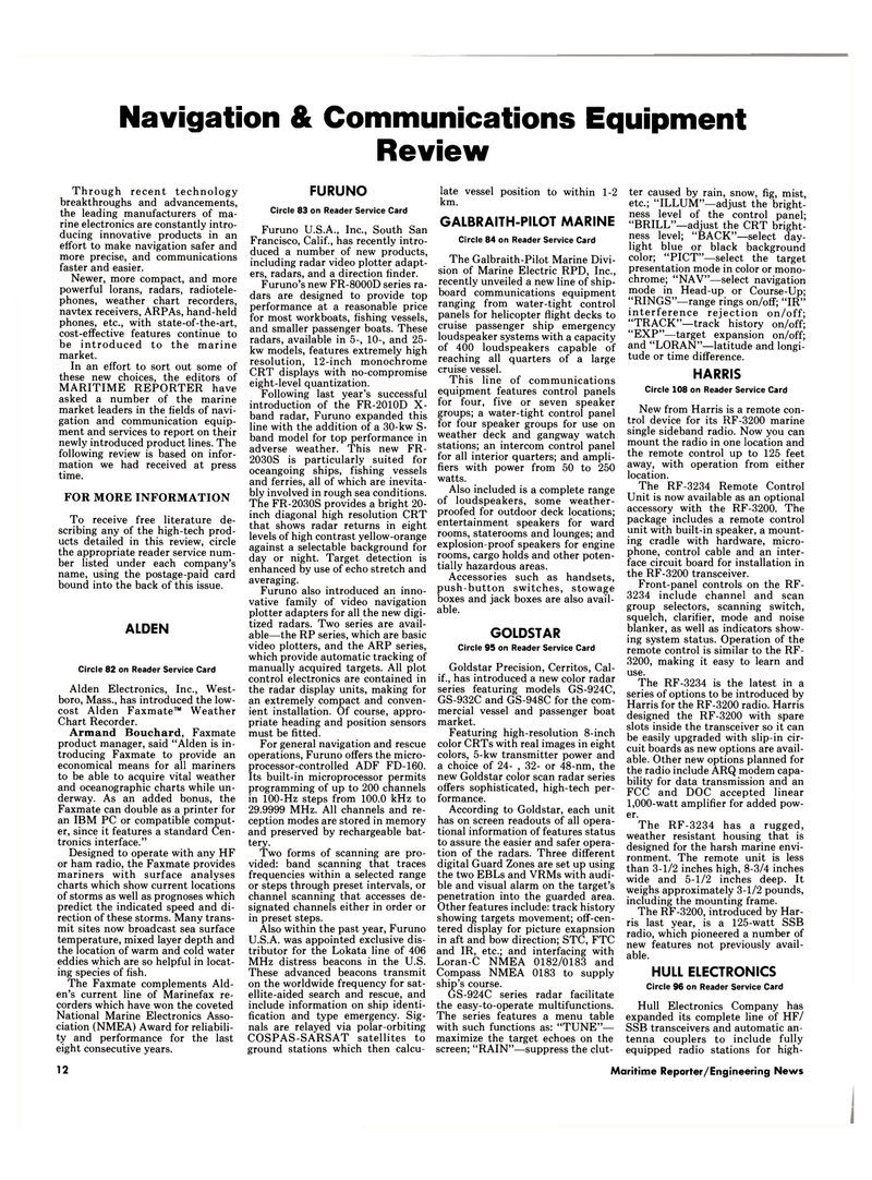 Maritime Reporter Magazine, page 12,  Mar 1989 California