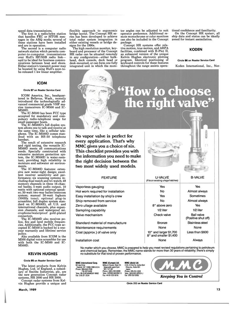Maritime Reporter Magazine, page 13,  Mar 1989 Dean St Newcastle
