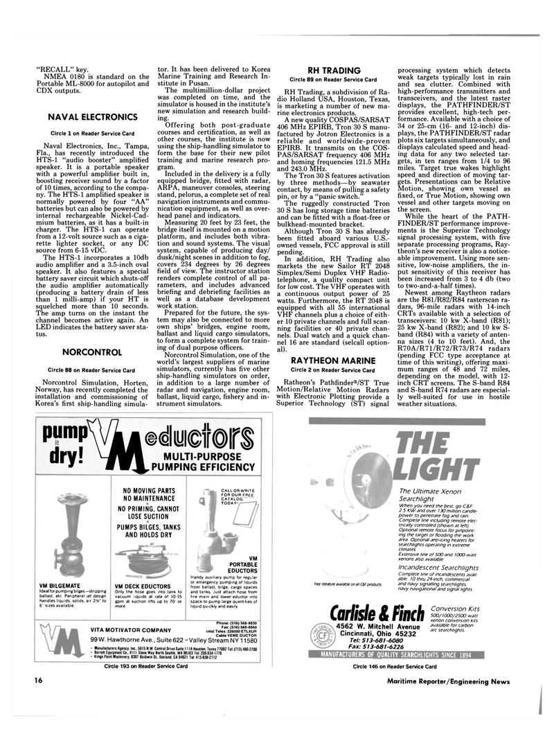 Maritime Reporter Magazine, page 16,  Mar 1989 California