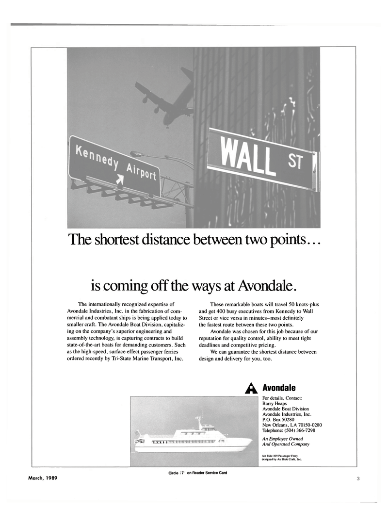 Maritime Reporter Magazine, page 1,  Mar 1989 Barry Heaps