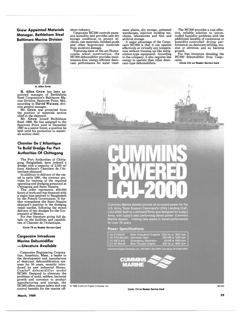 Maritime Reporter Magazine, page 39,  Mar 1989 Trinity