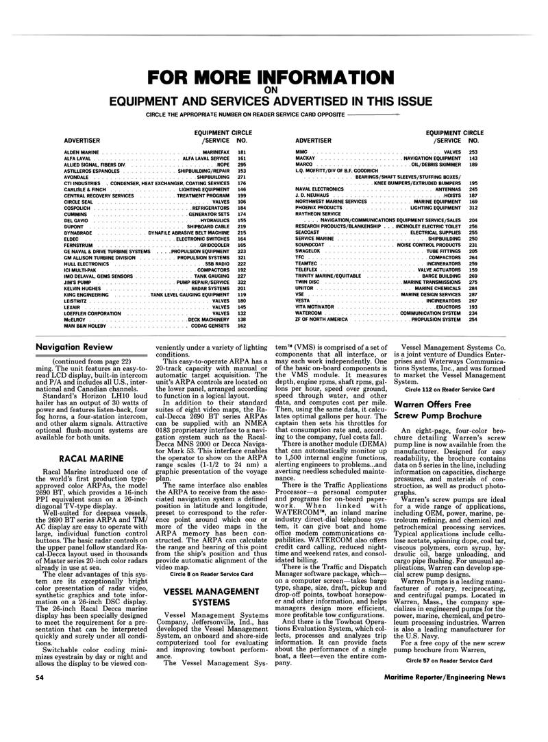 Maritime Reporter Magazine, page 54,  Mar 1989 ALLISON TURBINE