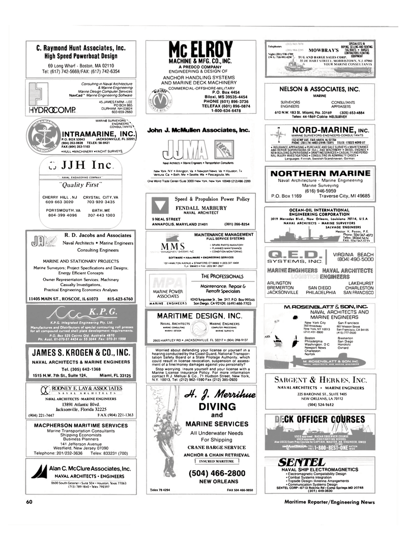 Maritime Reporter Magazine, page 58,  Mar 1989 Louisiana