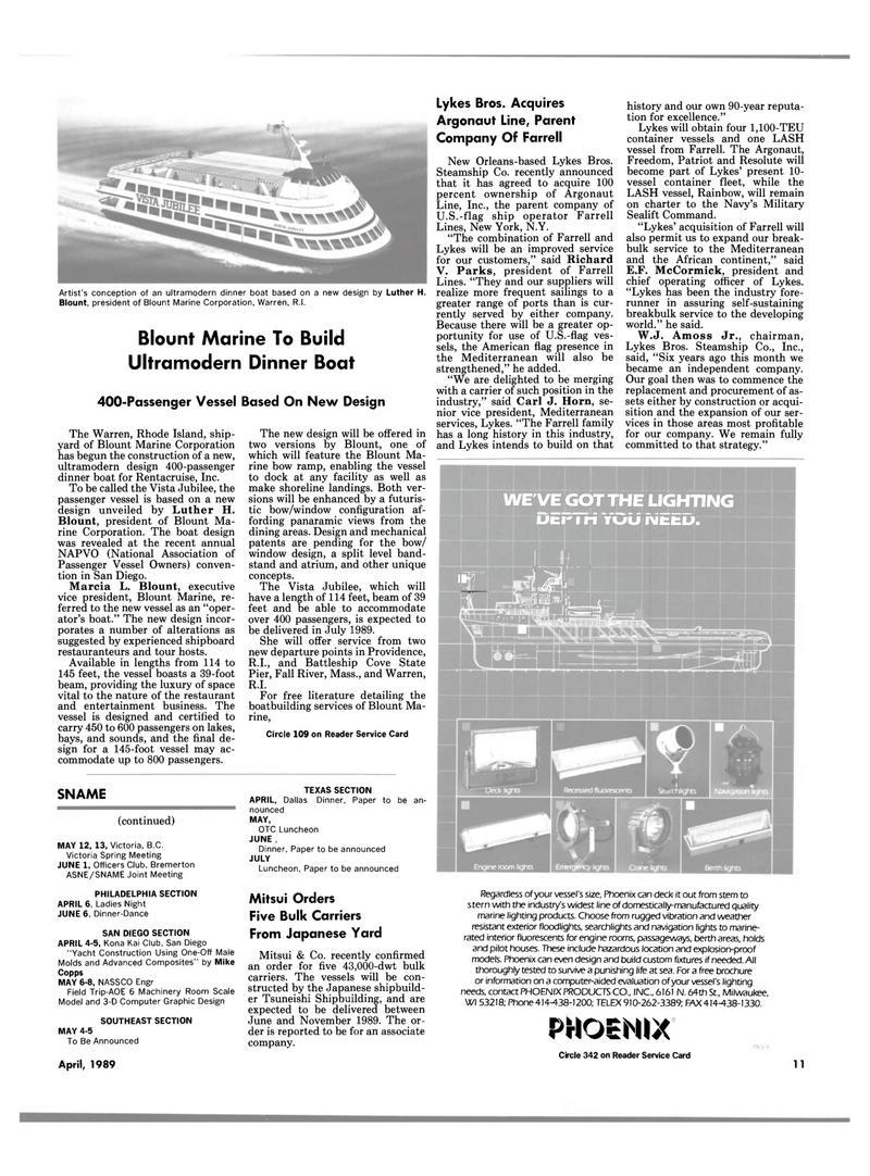 Maritime Reporter Magazine, page 9,  Apr 1989