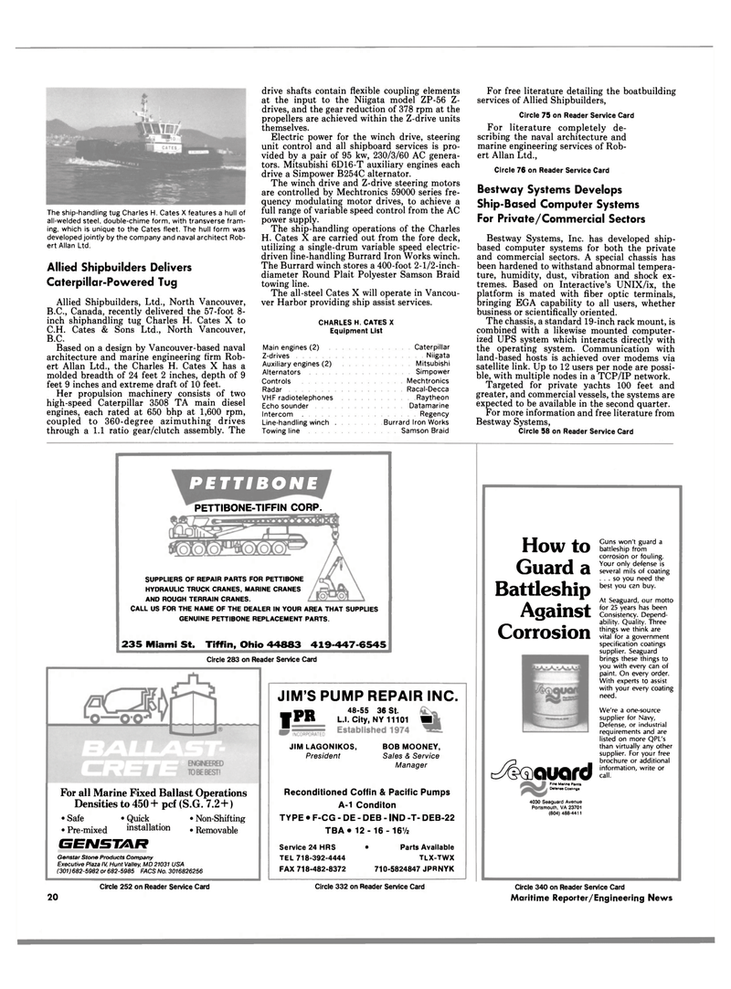 Maritime Reporter Magazine, page 18,  Apr 1989 operating system