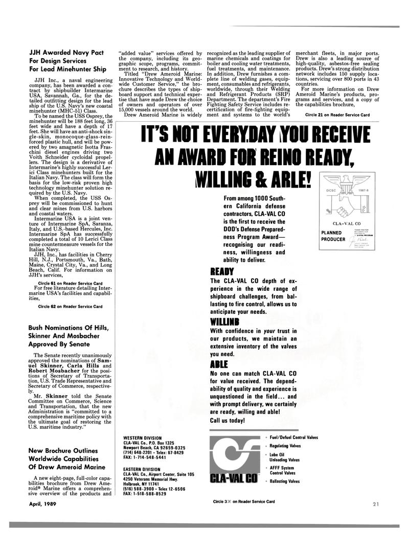 Maritime Reporter Magazine, page 19,  Apr 1989 Hercules