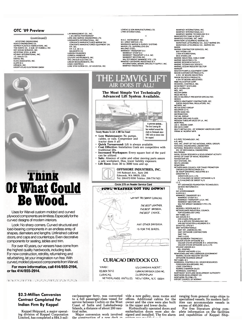 Maritime Reporter Magazine, page 32,  Apr 1989 NORTHEAST SCOTLAND