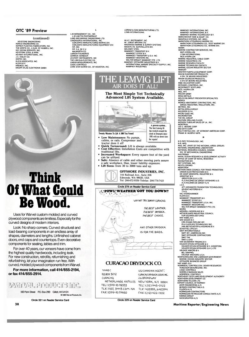 Maritime Reporter Magazine, page 34,  Apr 1989 ANTILLES
