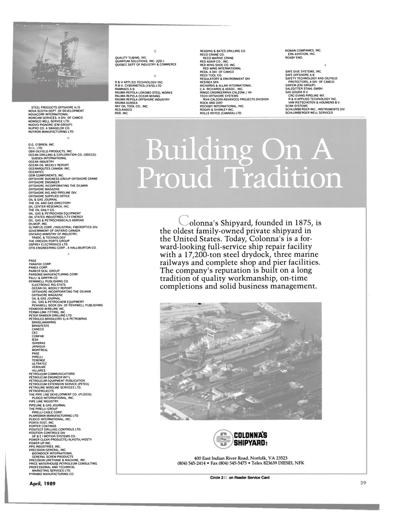 Maritime Reporter Magazine, page 37,  Apr 1989 Oregon