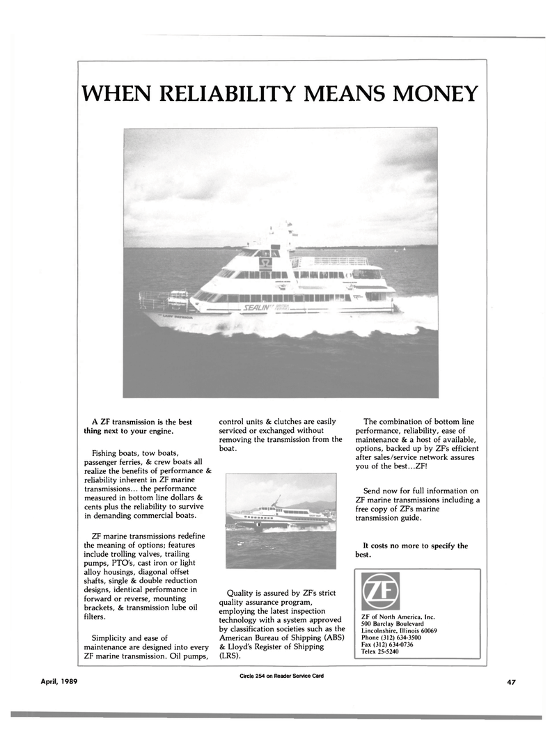 Maritime Reporter Magazine, page 45,  Apr 1989