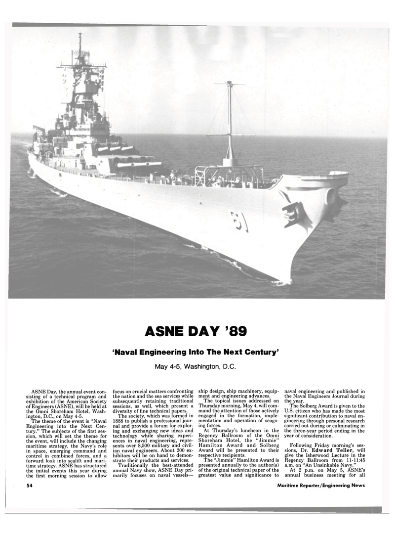 Maritime Reporter Magazine, page 52,  Apr 1989 Unsinkable Navy