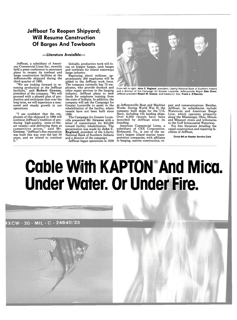 Maritime Reporter Magazine, page 66,  Apr 1989 Illinois