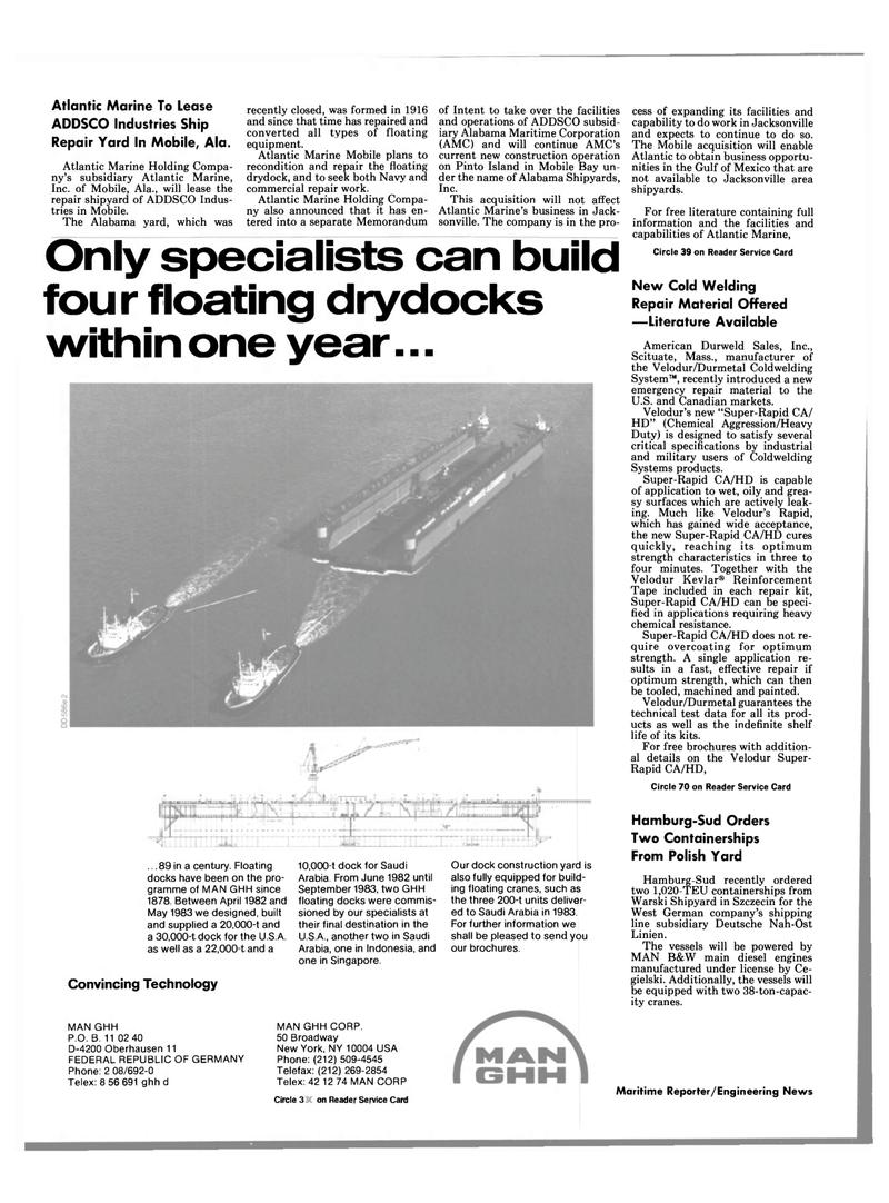 Maritime Reporter Magazine, page 68,  Apr 1989 New York