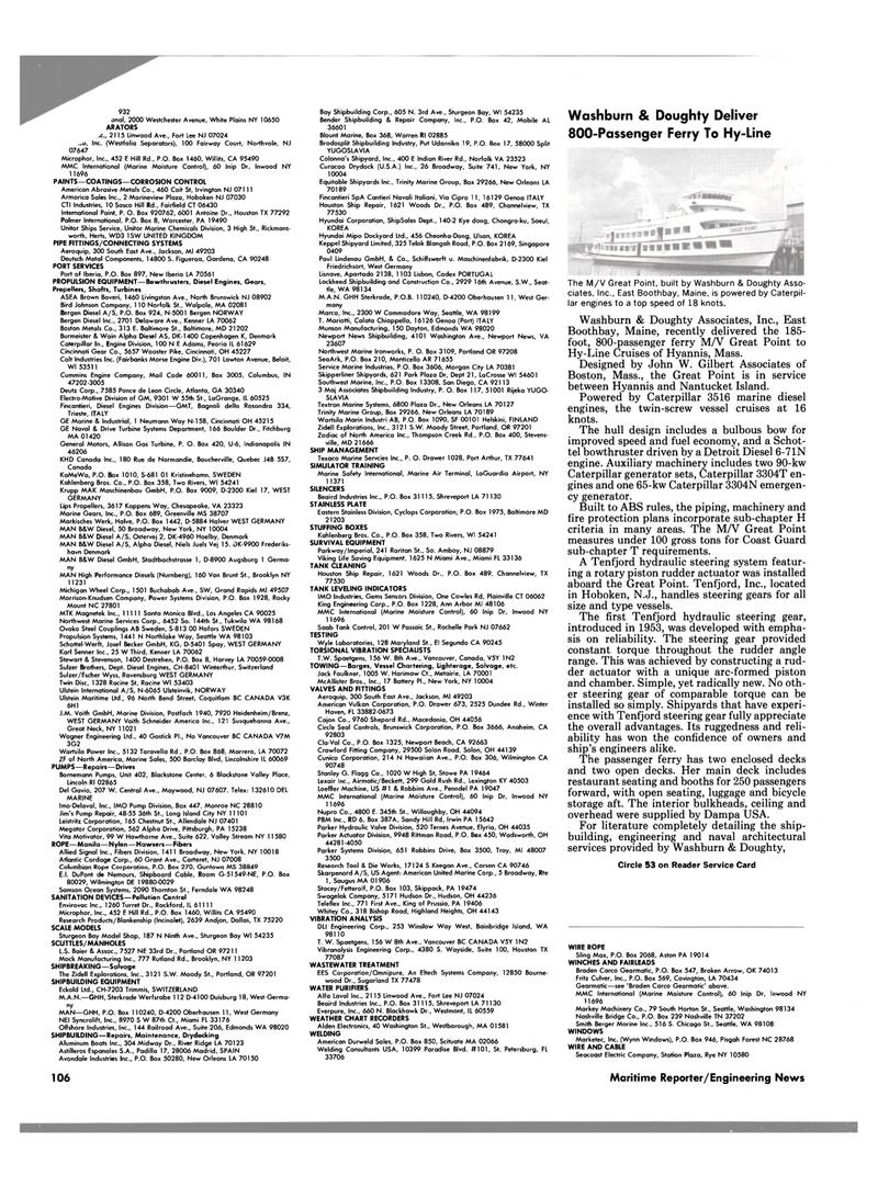 Maritime Reporter Magazine, page 100,  Jun 1989