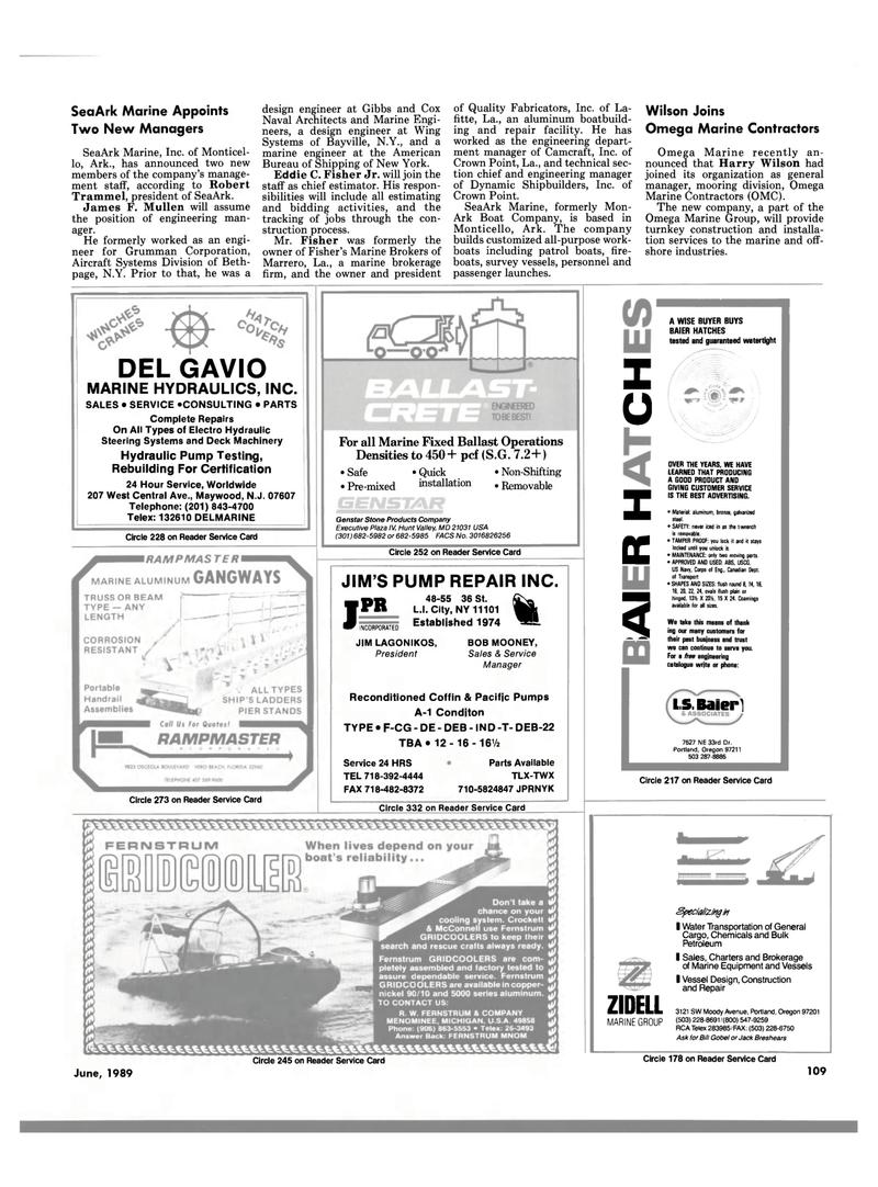 Maritime Reporter Magazine, page 103,  Jun 1989