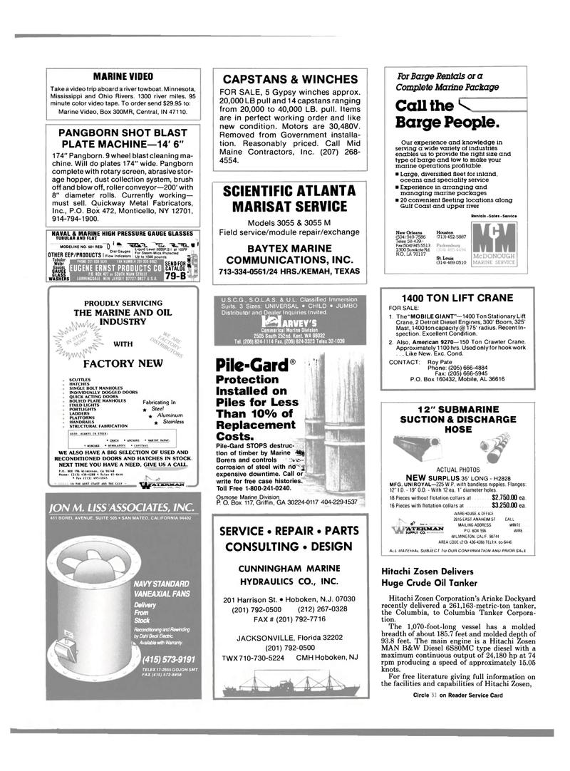 Maritime Reporter Magazine, page 109,  Jun 1989