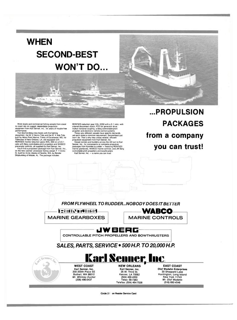 Maritime Reporter Magazine, page 4th Cover,  Jun 1989