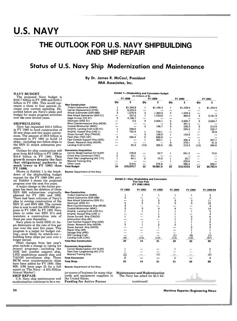 Maritime Reporter Magazine, page 20,  Jun 1989