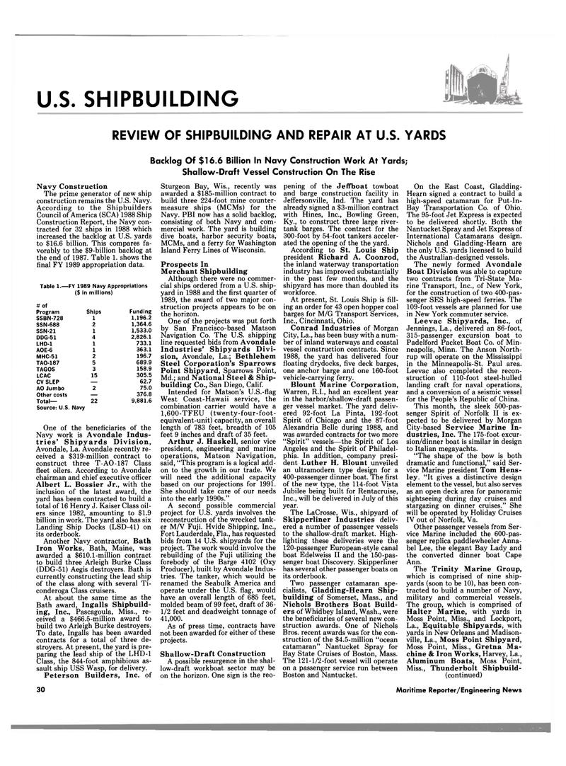Maritime Reporter Magazine, page 26,  Jun 1989