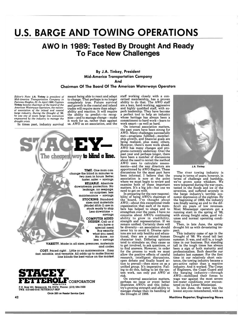Maritime Reporter Magazine, page 38,  Jun 1989