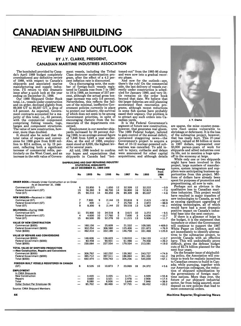 Maritime Reporter Magazine, page 40,  Jun 1989