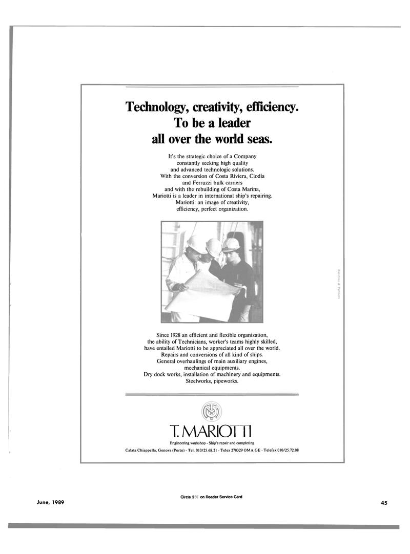 Maritime Reporter Magazine, page 41,  Jun 1989