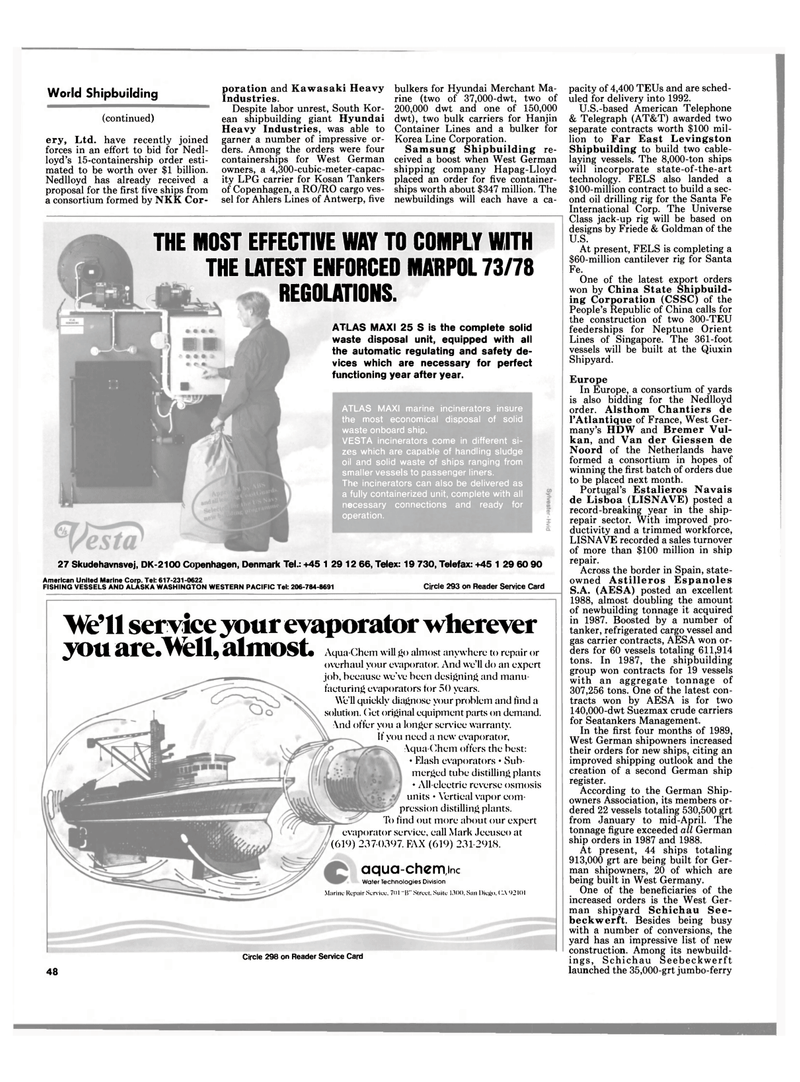Maritime Reporter Magazine, page 44,  Jun 1989