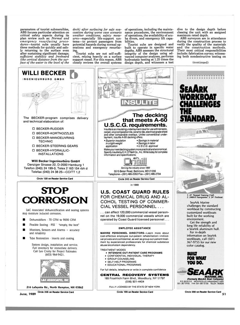Maritime Reporter Magazine, page 47,  Jun 1989
