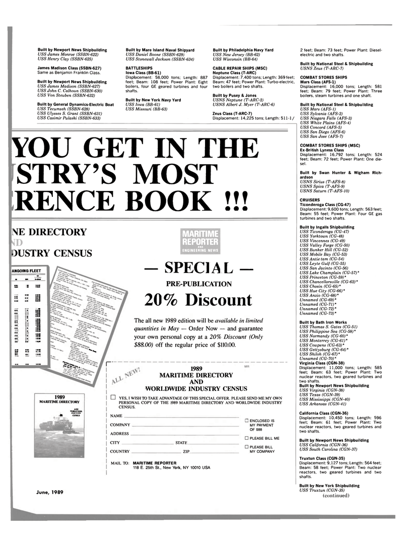 Maritime Reporter Magazine, page 53,  Jun 1989