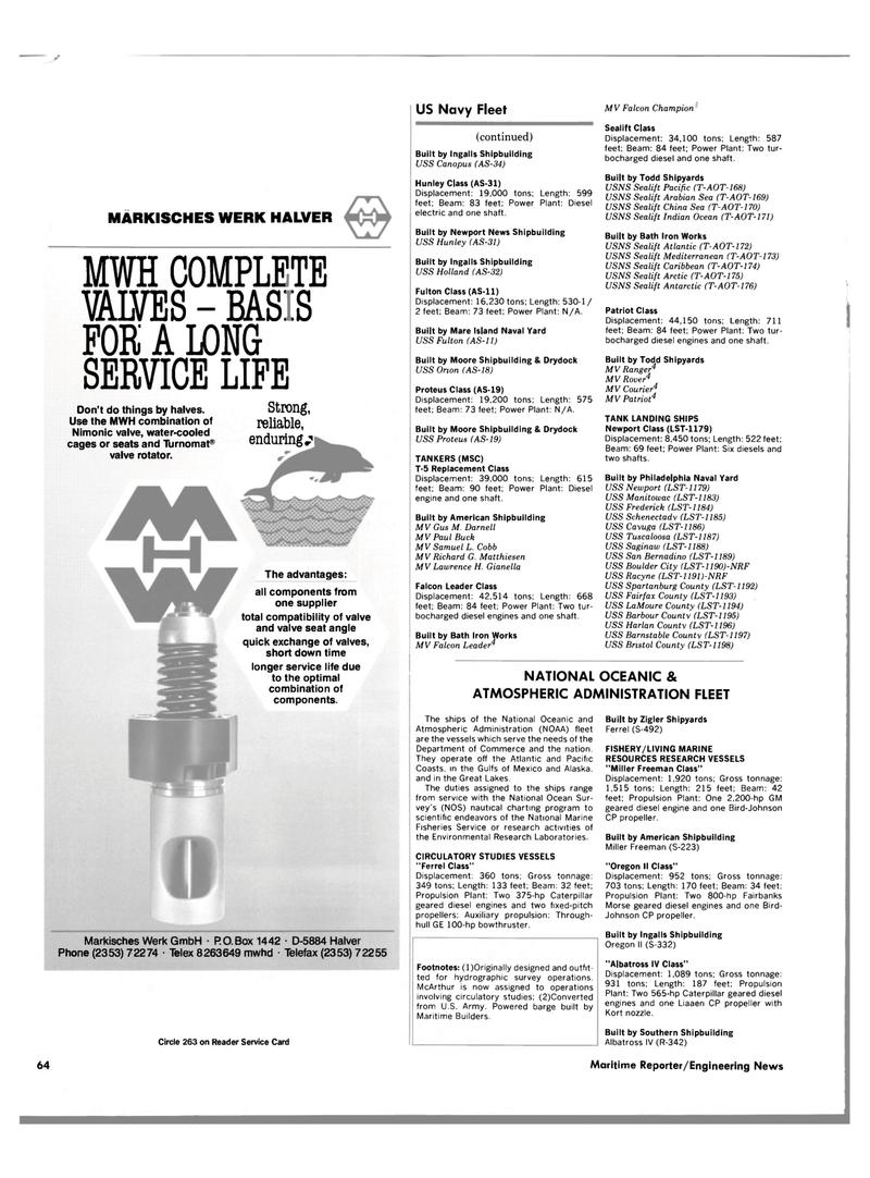 Maritime Reporter Magazine, page 60,  Jun 1989