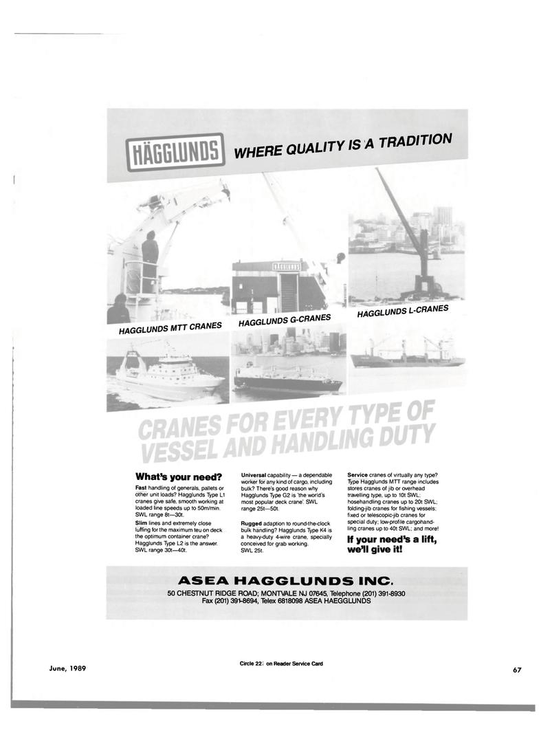 Maritime Reporter Magazine, page 63,  Jun 1989