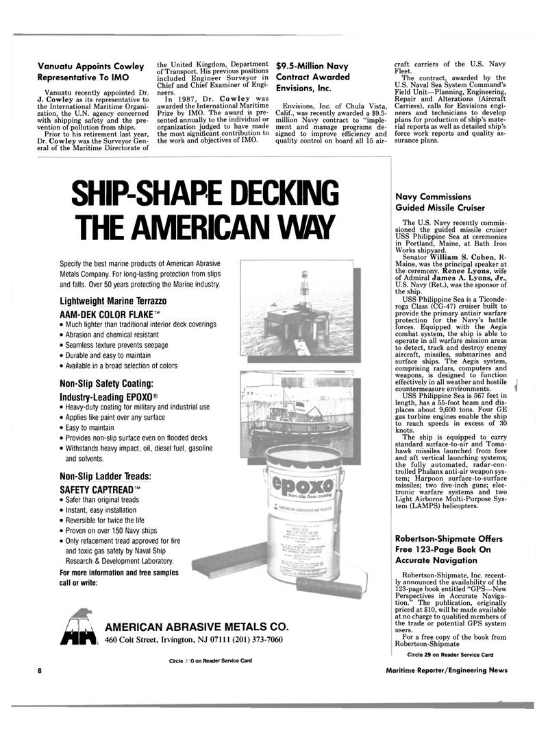 Maritime Reporter Magazine, page 6,  Jun 1989