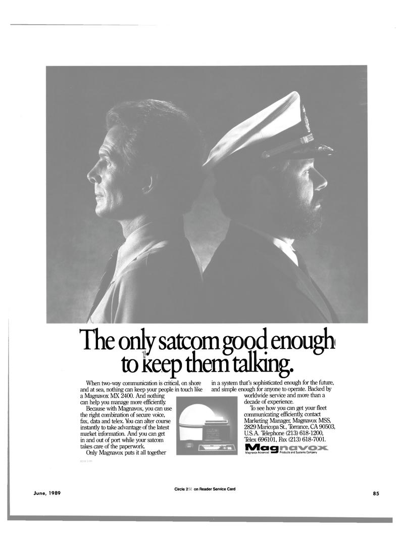 Maritime Reporter Magazine, page 81,  Jun 1989