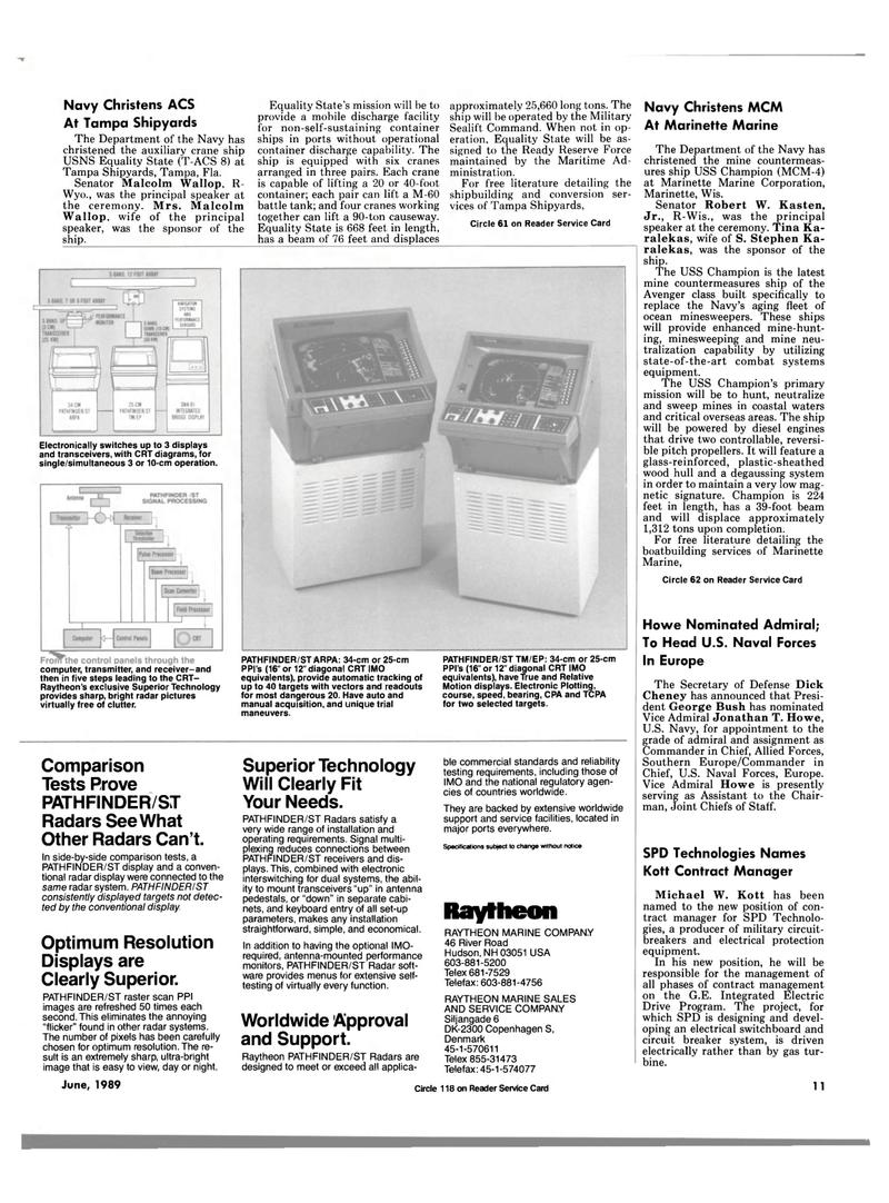 Maritime Reporter Magazine, page 7,  Jun 1989