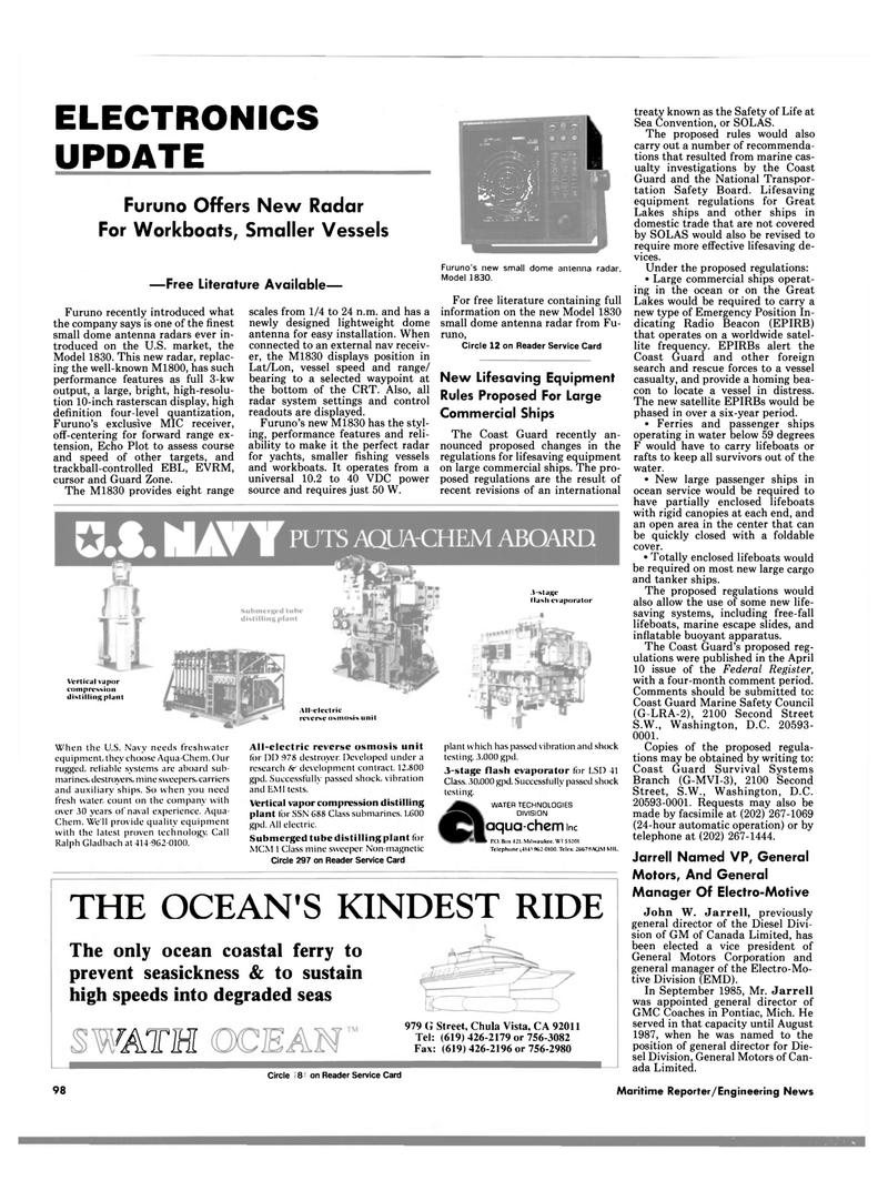Maritime Reporter Magazine, page 94,  Jun 1989