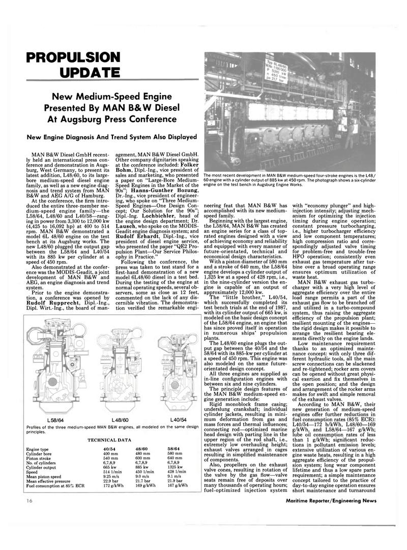 Maritime Reporter Magazine, page 14,  Jul 1989 Lausch