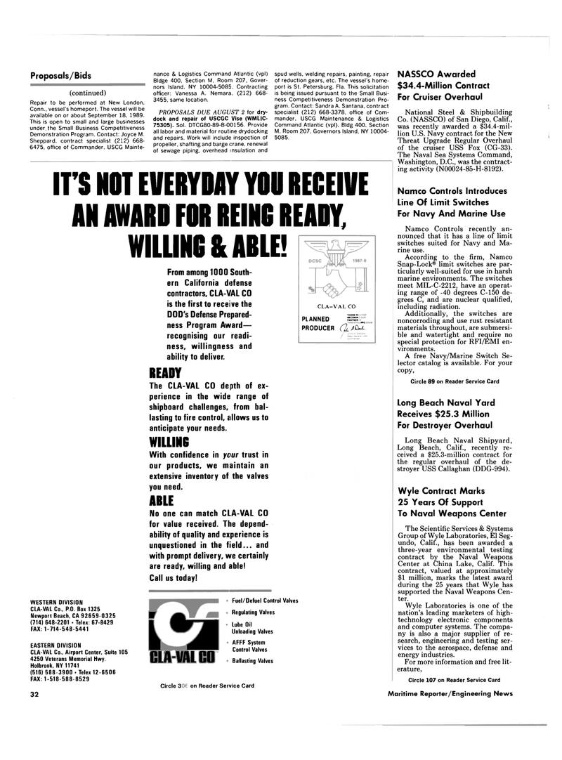 Maritime Reporter Magazine, page 30,  Jul 1989 Florida