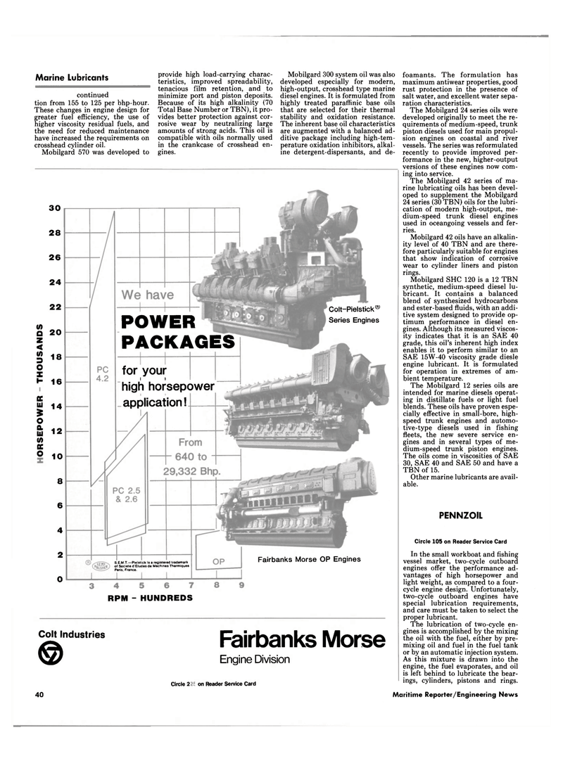 Maritime Reporter Magazine, page 38,  Jul 1989 crosshead cylinder oil