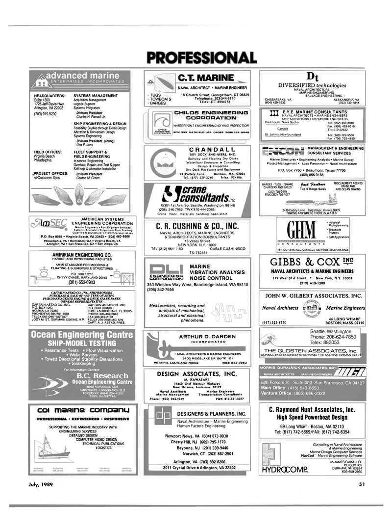 Maritime Reporter Magazine, page 47,  Jul 1989