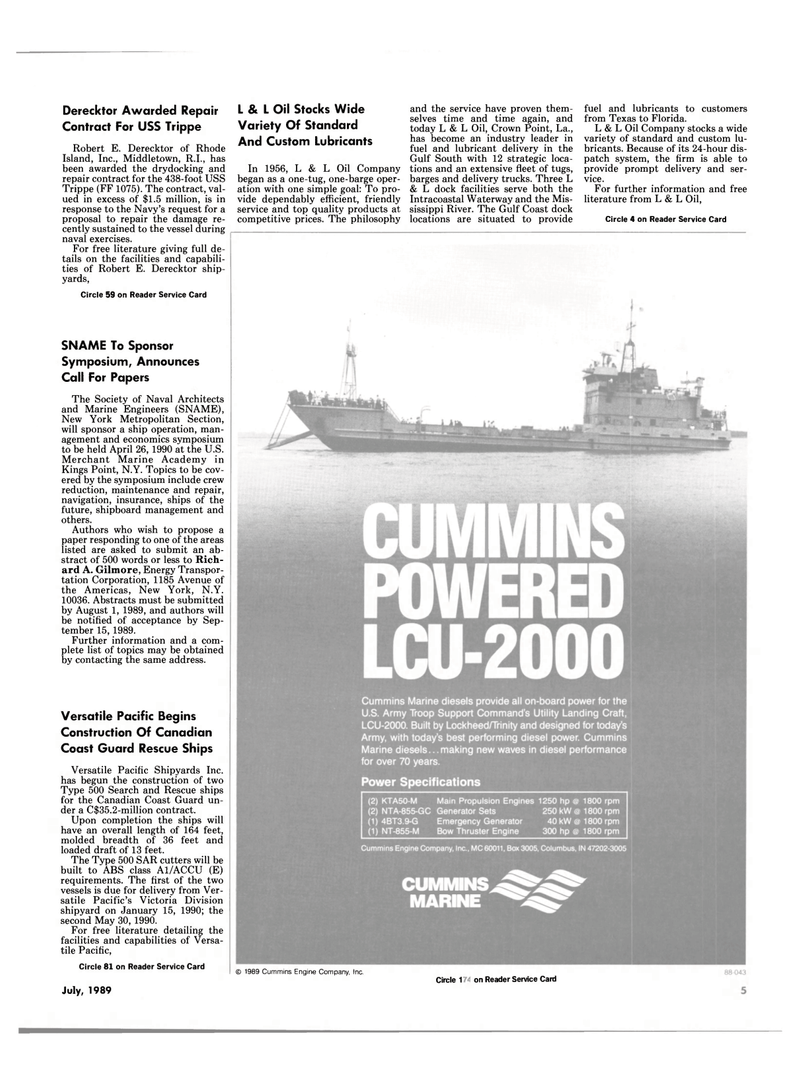 Maritime Reporter Magazine, page 3,  Jul 1989 Texas