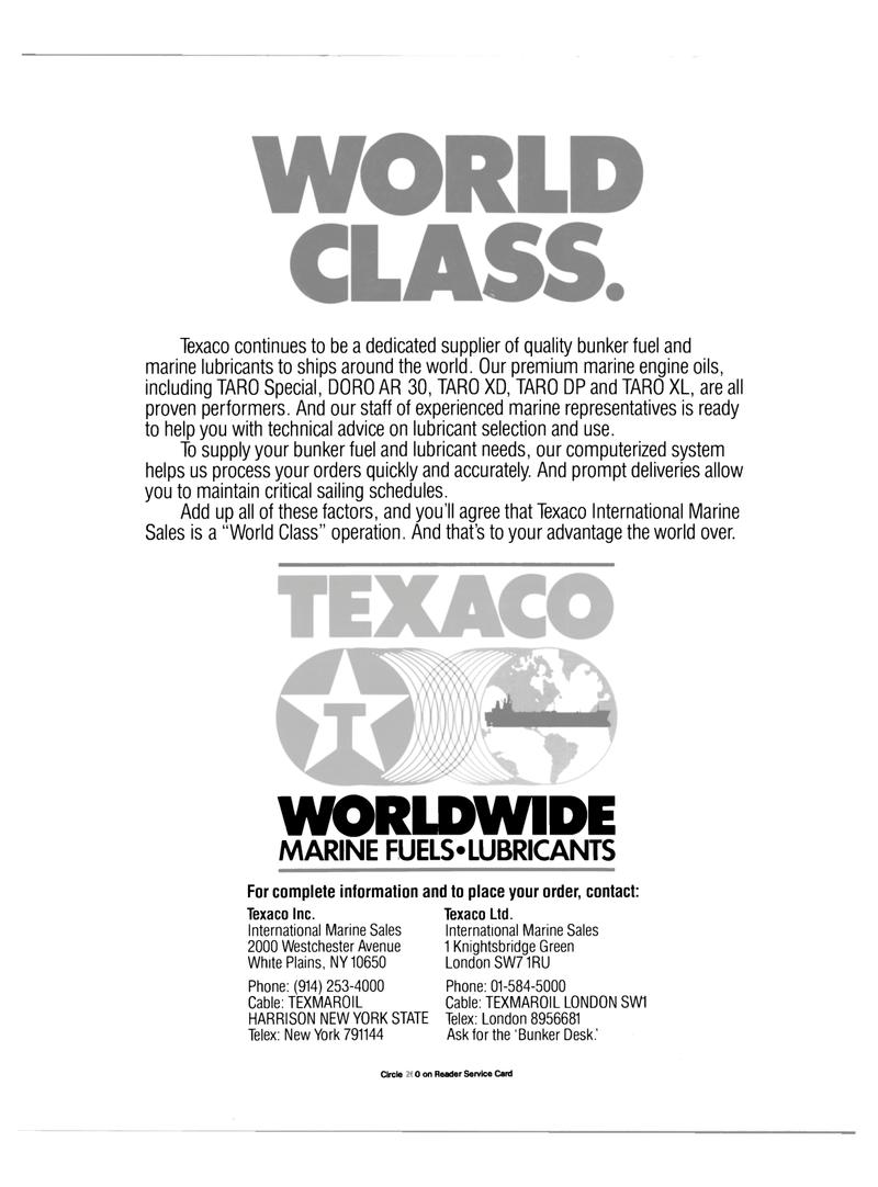 Maritime Reporter Magazine, page 4th Cover,  Jul 1989 Texaco Ltd. International