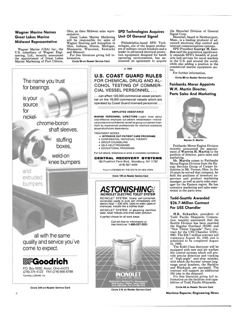 Maritime Reporter Magazine, page 4,  Jul 1989